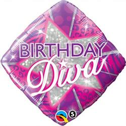 Qualatex Balloons Birthday Diva 45cm
