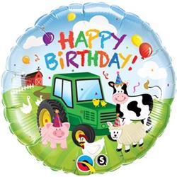 Qualatex Balloons Birthday Barnyard 45cm