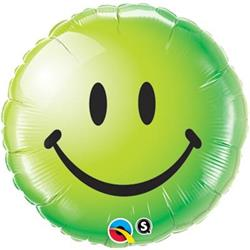 Qualatex Balloons Smiley Face Green 45cm