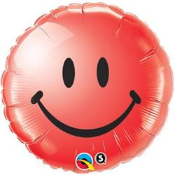 Qualatex Balloons Smiley Face Red 45cm