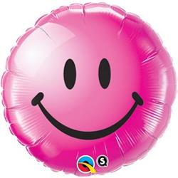 Qualatex Balloons Smile Face Wild Berry 45cm