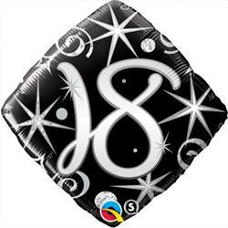 Qualatex Balloons 18 Elegant Sparkles and Swirls 45cm