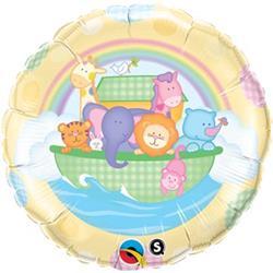 Qualatex Balloons Baby Ark and Rainbow 45cm
