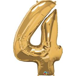 Qualatex Number 4 86cm Metallic Gold