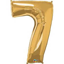 Qualatex Number 7 86cm Metallic Gold
