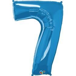 Qualatex Number 7 86cm Sapphire Blue