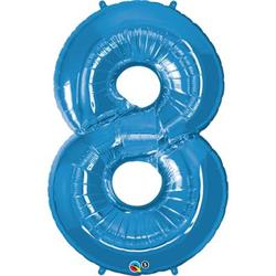 Qualatex Number 8 86cm Sapphire Blue