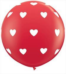 Big Hearts Red 90cm