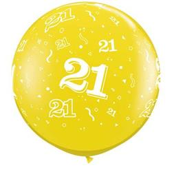 Qualatex Balloons 21 Around Citrine Yellow 90cm