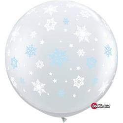 Qualatex Balloons Winter Snowflakes Around 90cm