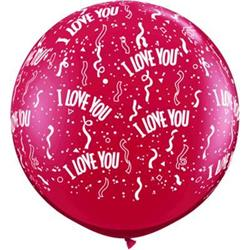 Qualatex Balloons I Love You Ruby Red 90cm