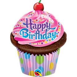 """Birthday Frosted Cupcake Mini Shape 14"""""""