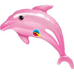 Delightful Pink Dolphin Mini Shape 14""