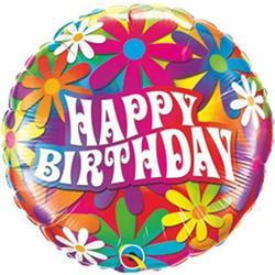 Qualatex Balloons Birthday Psychedalic Daisies 23cm