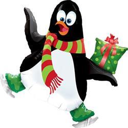 "Ice Skating Penguin Mini Shape 14"""