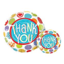 Qualatex Balloons Thank You Patterned Dots 23cm