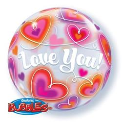 Bubble Love You Doodle Hearts 55.5cm