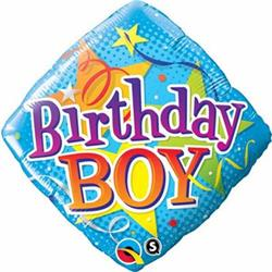 Qualatex Balloons Birthday Boy Stars 45cm