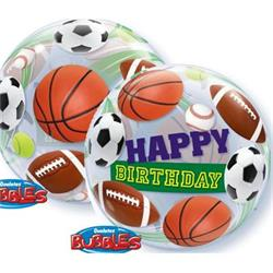 Birthday Sports Ball Bubble 55cm