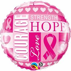 Qualatex Balloons Breast Cancer Inspirations 45cm