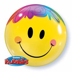Bright Smile Face Bubble 55cm