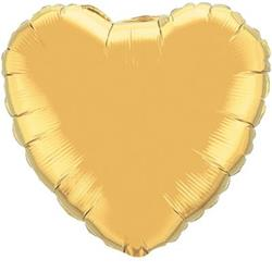 Heart Foil Gold 45cm Unpackaged