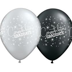 Qualatex Balloons Congratulatons Graduate 28cm  25 count
