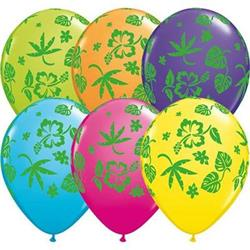 Qualatex Balloons Tropical Flora Tropical Asst. 28cm