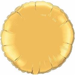 Qualatex Balloons 23cm Circle Gold