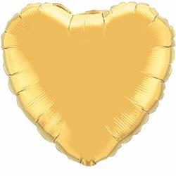 Qualatex Balloons 10cm Heart Gold
