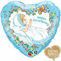 Qualatex Balloons Precious Moments Christening Boy 45cm