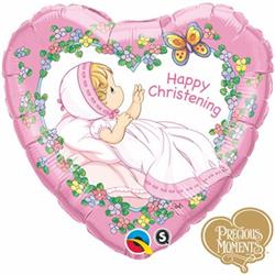 Qualatex Balloons Precious Moments Christening Girl 45cm