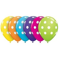 Qualatex Balloons Big Polka Dots Tropical Asst 12cm