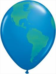 Qualatex balloons Globe of the World Dark Blue 28cm