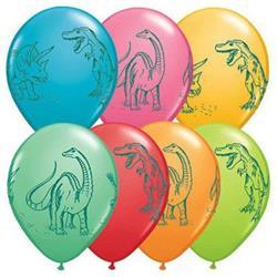 Qualatex Balloons Dinosaurs In Action Festive Assort 28cm