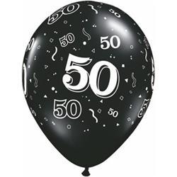 Qualatex Balloons 50 Arund Onyx Black 28cm