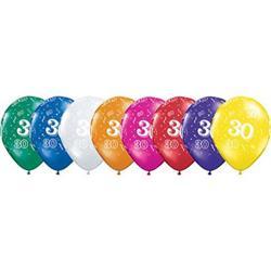Qualatex Balloons 30 Around Jewel Tone Asst. 28cm