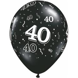 Qualatex Balloons 40 Around Onyx Black 28cm
