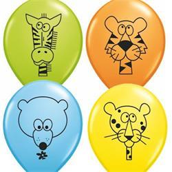Qualatex Balloons Jungle Animal Assortment 28cm