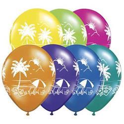 Qualatex Balloons Tropical Vistas Fantasy Assortment 28cm