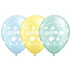 Qualatex Balloons Adorable Ark Baby Shower Pastel Pearl  Asst 28cm