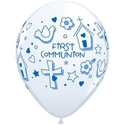 Qualatex Balloons First Communion Symbols - Boy 28cm