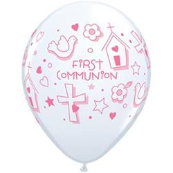 Qualatex Balloons First Communion Symbols - Girl 28cm