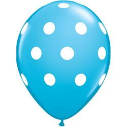 Qualatex Balloons Big Polka Dots Robin's Egg Blue  28cm
