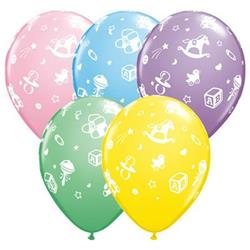 Qualatex Balloons Baby Nursery Pastel Assorted 28cm