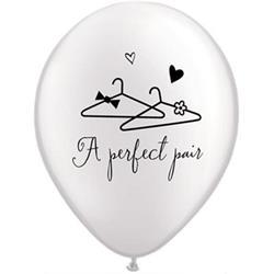 Qualatex Balloons A Perfect Pair Prl White 28cm
