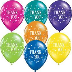 Qualatex Balloons Thankyou Thank You Confetti Fantasy Asst 28cm