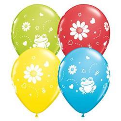 Qualatex Balloons Frogs & Daisies asst 28cm