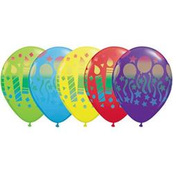 Qualatex Balloons Assorted Birthday Sprays 28cm