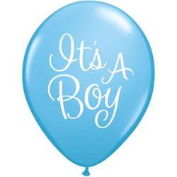 Qualatex Balloons It's A Boy Classy Script 28cm